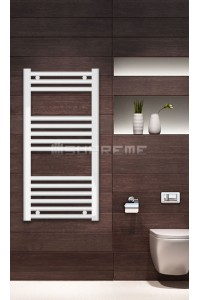 400mm Wide 800mm High White Flat Towel Radiator