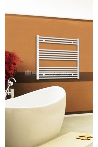 800mm Wide 800mm High White Flat Towel Radiator