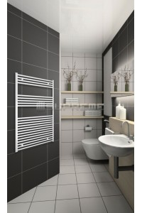 800mm Wide 1200mm High White Flat Towel Radiator