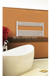 1000mm Wide 600mm High White Flat Towel Radiator