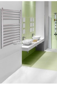 600mm Wide 800mm High Stainless Steel Polished Towel Radiator