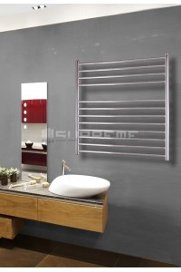 800mm Wide 800mm High Stainless Steel Polished Towel Radiator