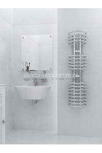 300mm Wide 1200mm High Supreme Chrome Designer Towel Radiator