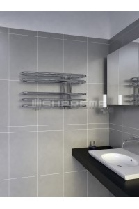 700mm Wide 400mm High Supreme Chrome Designer Towel Radiator