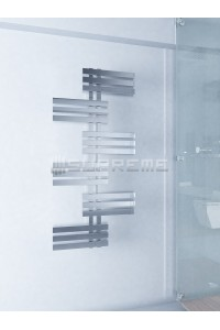 600mm Wide 1300mm High Supreme Chrome Designer Towel Radiator