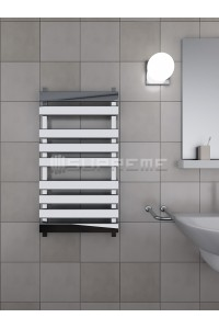500mm Wide 950mm High Supreme Chrome Designer Towel Radiator