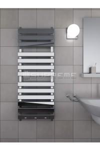 500x1300 mm Rektangulära Rör Supreme Designad Handdukstork