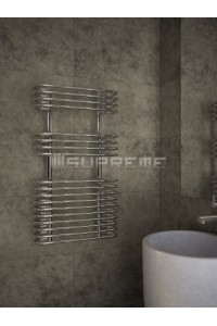 500mm Wide 900mm High Supreme Chrome Designer Towel Radiator