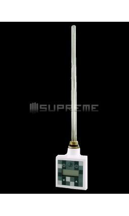800 Watt Digitalt Reglerbar Vit Elpatron till Handdukstork