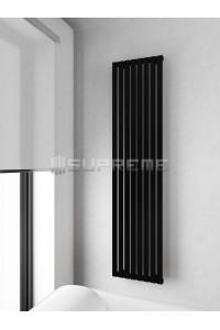 400mm Wide 1700mm High Supreme Black Designer Vertical Radiator