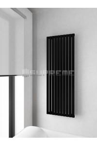 500mm Wide 1400mm High Supreme Black Designer Vertical Radiator