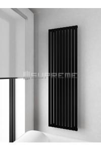 500mm Wide 1700mm High Supreme Black Designer Vertical Radiator