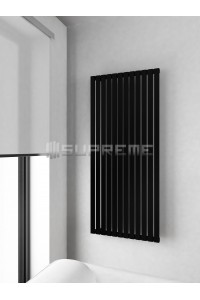 600mm Wide 1400mm High Supreme Black Designer Vertical Radiator