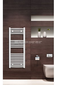 400mm Wide 1000mm High White Curved Towel Radiator