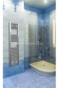 300mm Wide 1200mm High Chrome Flat Towel Radiator