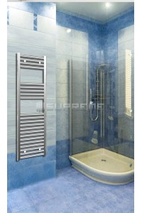 400mm Wide 1200mm High Chrome Flat Towel Radiator