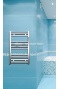 500mm Wide 800mm High Chrome Flat Towel Radiator