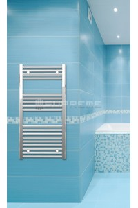 500mm Wide 1000mm High Chrome Flat Towel Radiator
