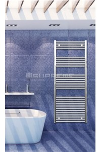 600mm Wide 1500mm High Chrome Flat Towel Radiator