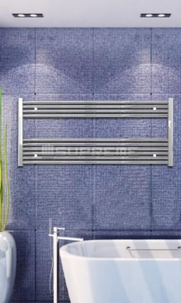 1200x600 mm Krom Platt Handdukstork