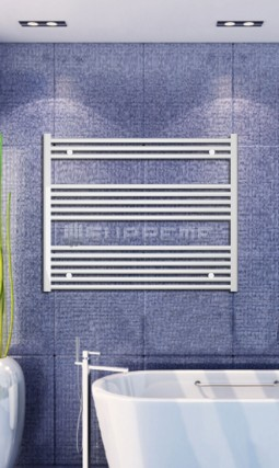 1000x800 mm Vit Platt Handdukstork