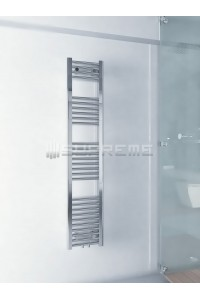 300mm Wide 1500mm High Middle Connection Chrome Towel Radiator