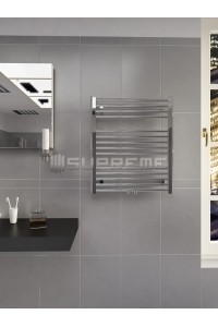 600mm Wide 700mm High Middle Connection Chrome Towel Radiator