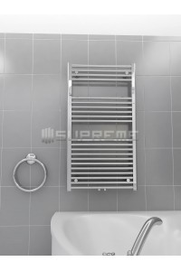 600mm Wide 1100mm High Middle Connection Chrome Towel Radiator
