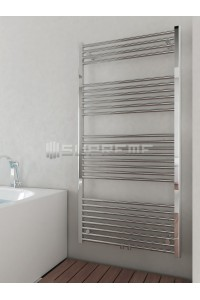 700mm Wide 1400mm High Middle Connection Chrome Towel Radiator