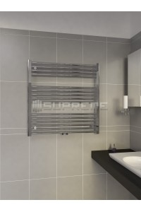 800mm Wide 800mm High Middle Connection Chrome Towel Radiator