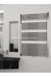 800mm Wide 1200mm High Middle Connection Chrome Towel Radiator