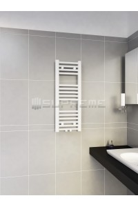 300mm Wide 800mm High Middle Connection White Towel Radiator