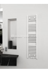 300mm Wide 1200mm High Middle Connection White Towel Radiator