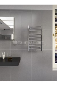 400/700mm Middle Connection Chrome Towel Radiator