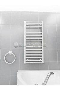 500mm Wide 1100mm High Middle Connection White Towel Radiator