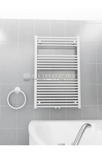 700mm Wide 1100mm High Middle Connection White Towel Radiator