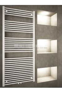 700mm Wide 1600mm High Middle Connection White Towel Radiator
