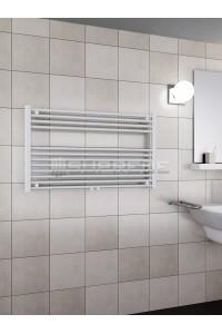 1000mm Wide 600mm High Middle Connection White Towel Radiator