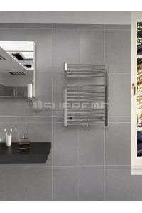500mm Wide 700mm High Middle Connection Chrome Towel Radiator