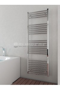 500mm Wide 1400mm High Middle Connection Chrome Towel Radiator