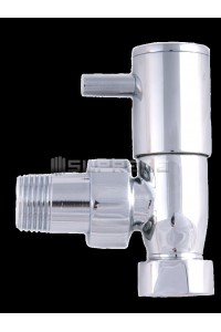 "Angled 1/2"" Chrome Towel Radiator Valve"